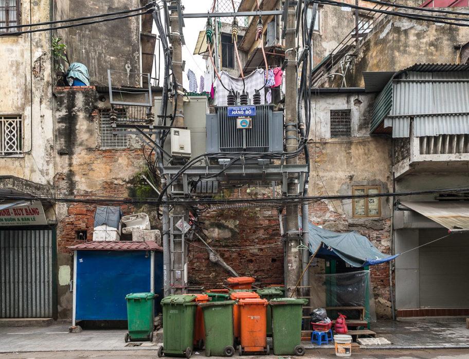 Hanoi, transformateur rue Hàng Bô