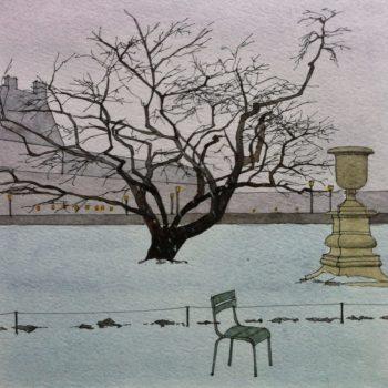 Neige aux Tuileries