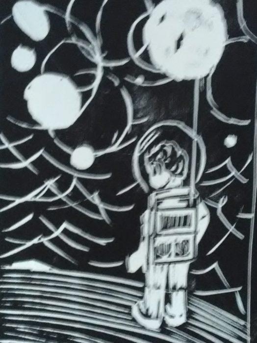 Zizi sur la lune