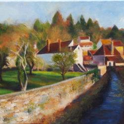 Bourgogne-Chatel Censoir Acrylique sur toile 33 x41