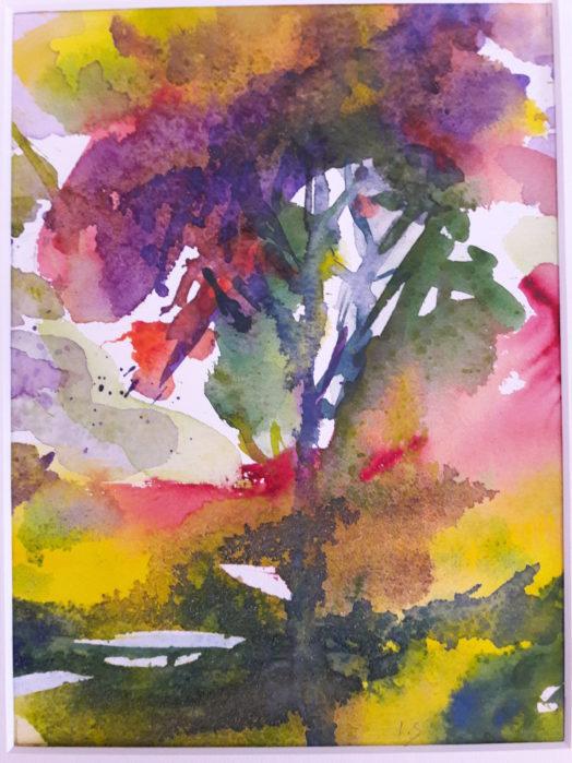 Printemps – Aquarelle sur papier 24 x 30