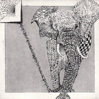 L'éléphant 10X10 50€