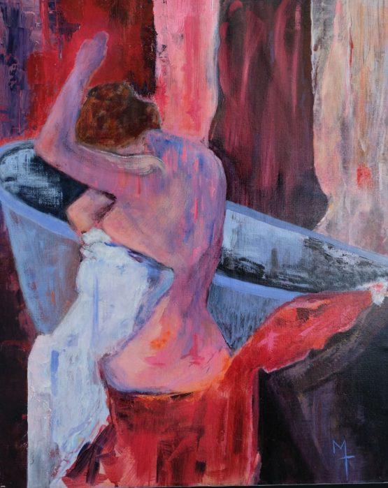 Femme rose à la baignoire bleue (50 sur 61)