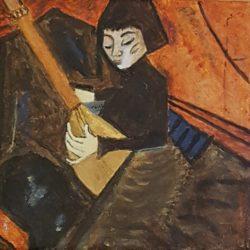 La jeune fille au luth Acrylique (d'après E. Heckel)