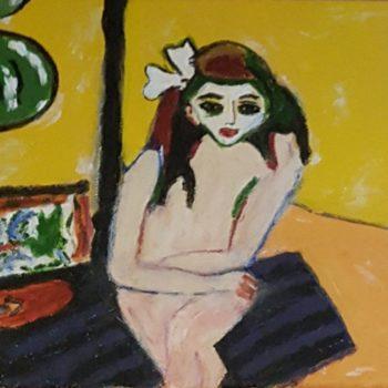 Marzella Acrylique (d'après E. L Kirchner)