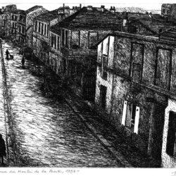 10 rue du Moulin de la Pointe, 75013 Paris, 1957 – Eau-forte – 15 x 20 cm – Décembre 2019