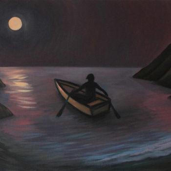 Départ au clair de lune – Huile sur toile – 55 x 46 cm – Septembre 2015