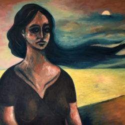 Femme nuages – Huile sur toile – 100 x 73 cm – Septembre 2020