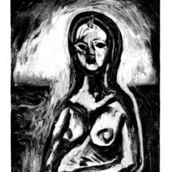 Femme 1 – Monotype – 15 x 20 cm – Mai 2017