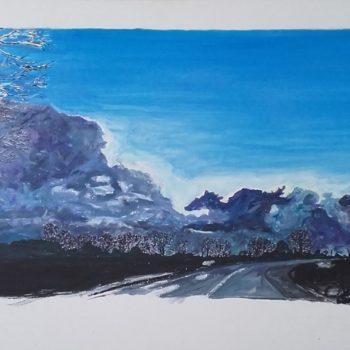2018 Huile sur toile 75×54 – Trajectoire