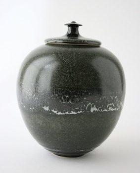 Boîte porcelaine noir chv + d12