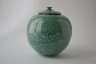 Boite porcelaine verte