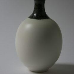 Soliflore porcelaine d12 col noir chv + d12