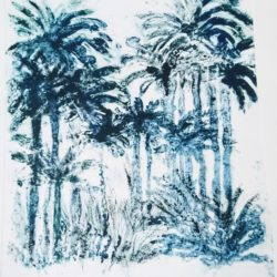 les palmiers du jardin botanique de rio 40x30cm