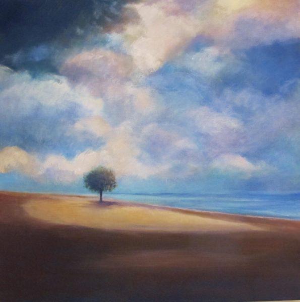 «rayon de soleil sur l'arbre tranquille»