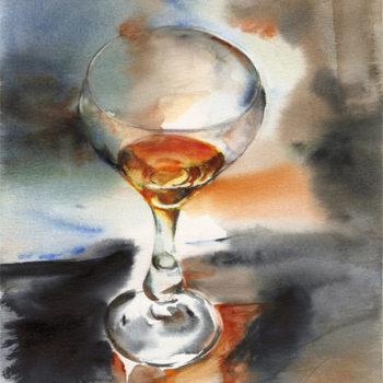 Aquarelle – Vapeurs d'alcool – Verre 1