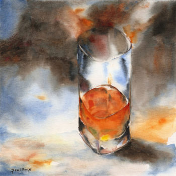 Aquarelle – Vapeurs d'alcool – Verre 3