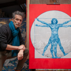 Autoportrait au Vituve Bleu